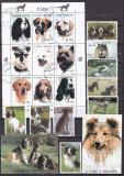 Sao Tome 1995 fauna Caini si Pisici MI 1548-94 (3 poze) stamp. MI=200, Nestampilat