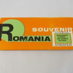Pliant cu diapozitive Romania Suvenir Monumente Istorice Suceava 1969