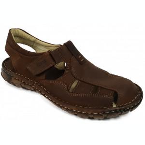 Sandale barbati din piele maro Berende 334