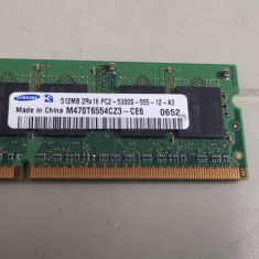 Ram Laptop Samsung 512MB DDR2 PC2-5300S M470T6554CZ3-CE6