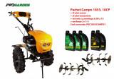 Pachet motocultor Campo 1853, benzina, EURO5, 18CP, 2+1 trepte, ulei motor si transmisie incluse, Progarden