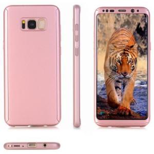 Husa Full Cover 360° (fata + spate) pentru Samsung Galaxy S8, Rose Gold