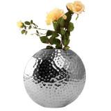 Cumpara ieftin Vaza Argintie Nichelata, Sferica, inaltime 27 cm