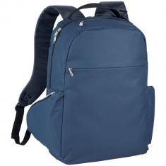 Rucsac Laptop, Everestus, SM, 15.6 inch, 600D poliester, albastru, saculet de calatorie si eticheta bagaj incluse
