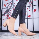 Pantofi dama cu toc bej Reavia -rl