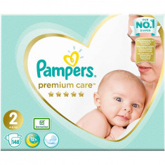 Scutece Pampers Premium Care 2 New Baby Mega Box, 148 bucati