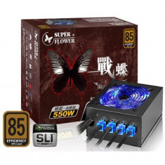 Sursa Gaming Modulara Super Flower 550W, 6x SATA, 4x MOLEX, 2x 6+2 pin, Open Box