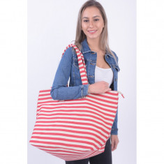 Geanta Pieces Barbara Canvas High Risk Red