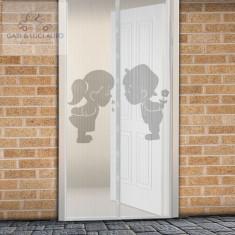 Perdea anti-ţânţari pt. uşi închidere magnetică 100 x 210 cm Model băiat+fată