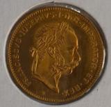 Moneda aur fin, 1892 Imp Austriac, Franz Iosef, Europa