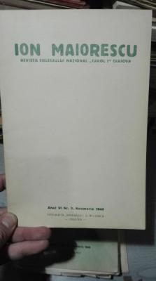 Ion Maiorescu – Revista Colegiului national Carol I Craiova – nov 1940 foto