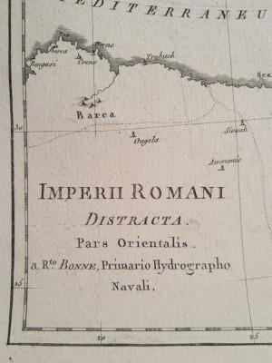 Lot 2 harti ale Imperiului Roman (de Apus si de Rasarit), tiparite in 1787 foto