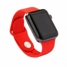 Bratara silicon Apple Watch 38mm, curea ceas seria 1, 2, 3, rosie