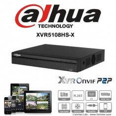 DVR HDCVI 8 canale 4k Pentabrid Full HD compresie H.265 Dahua XVR5108HS-X