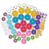 Set creativ Inele cu floricele Galt, 12 inele, 6 ani+, Multicolor