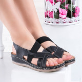 Sandale dama cu talpa ortopedica negre Mikalya