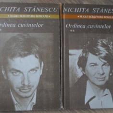 ORDINEA CUVINTELOR VOL.1-2 - NICHITA STANESCU