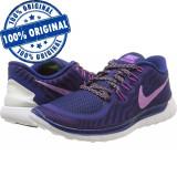 Pantofi sport Nike Free 5.0 pentru femei - adidasi originali - alergare, 36, 36.5, 38, Mov, Textil
