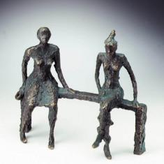 "Statueta bronz ""Mama si fiica"", editie limitata"