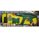 Pistol mitraliera de jucarie cu binoclu, busola statie emisie