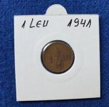 Moneda 1 Leu 1941 Regele Mihai - piesa in stare foarte buna