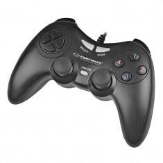 GamePad Fighter Esperanza, USB, PC, Negru