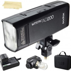 Kit Blitz Godox AD200 Speedlight Wistro Flash Portabil 200Ws + accesorii