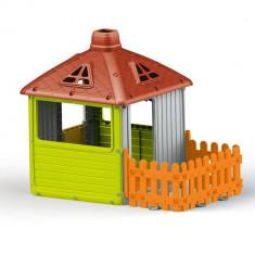 Casuta pentru copii cu gard PlayLearn Toys, DOLU