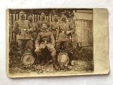 Fotografie veche reprezentand soldati din primul razboi mondial