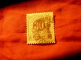 Timbru Suedia 1872 - Cifra , val. 30 ore stampilat