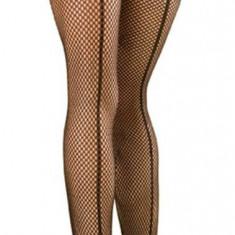 Ciorapi Tip Plasa Cu Tiv Decorativ, Negru