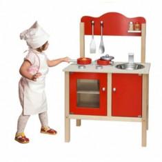 Bucatarie Viga Toys cu accesorii - Rosu