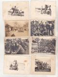 Bnk foto - Lot fotografii aviatie aviatori  armata WW II 1940 -1944 Romania, Alb-Negru, Militar, Romania 1900 - 1950