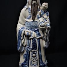 Deosebita sculptura din portelan chinezeasca Fuxing