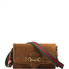 Lady Web Leather Convertible Wallet, Gucci