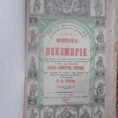 Minei Decembrie, Bucuresti 1852