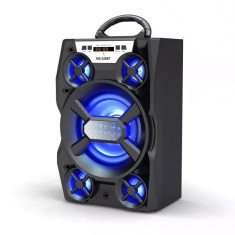 Boxa portabila Bluetooth MS248BT, 15 W, AUX, USB, card, radio FM, negru