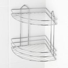 Etajera pentru baie colt, 2 rafturi TEKNO-TEL BK 002, diblu