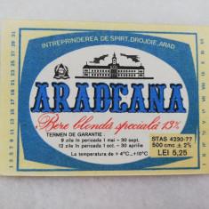 Eticheta Bere - ARADEANA - Arad - ( Mica )