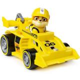 Masina de curse cu sunete si motor Pull-Back, Patrula Catelusilor, Rubble