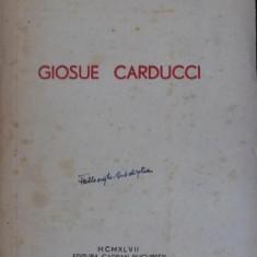 GIOSUE CARDUCCI - DEDICATIE !!! - ALEXANDRU BLACI