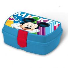 Cutie pentru sandwich Mickey Mouse albastru