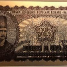 25 Lei 1952 bancnota rara RPR polimer placata cu argint