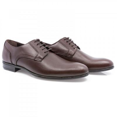 Pantofi barbati Goretti din piele naturala Gor-41155-Brw foto