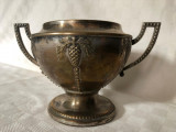 Cupa argintata prevazuta cu doua anse