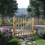 VidaXL Poartă simplă de gard, lemn de alun 100x90 cm