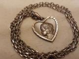 MEDALION argint PRINTESA CONTESA delicat FRANTA 1900 art nouveau pe Lant Argint