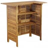 Masă de bar, lemn masiv de acacia, 110 x 50 x 105 cm