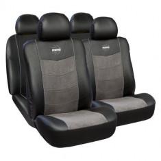 Huse Scaune Auto Dacia Nova Premium Momo Piele Ecologica si Alcantara 11 Bucati