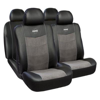 Huse Scaune Auto Opel Astra H Premium Momo Piele Ecologica si Alcantara 11 Bucati foto